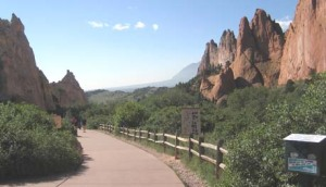 At the sacred Garden of the Gods, Colorado Springs