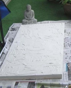 Starting with plaster for texture