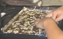 Breaking Almond Roca using your hands