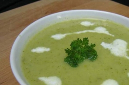 Leek potato kale soup