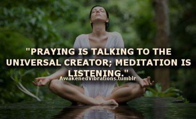 praying and meditating