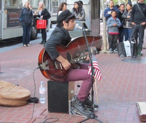 John Vicino street musician