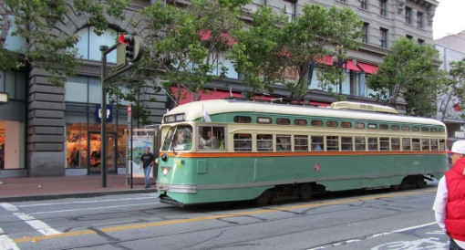 San Francisco retro streetcar