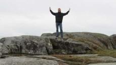 happy on rock