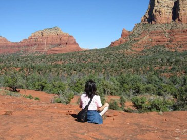 Meditating in Sedona vortex