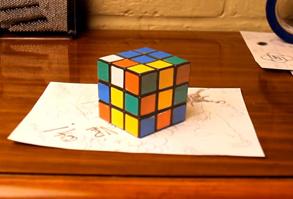 Rubiks cube illusion
