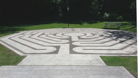 Labyrinth - in concrete