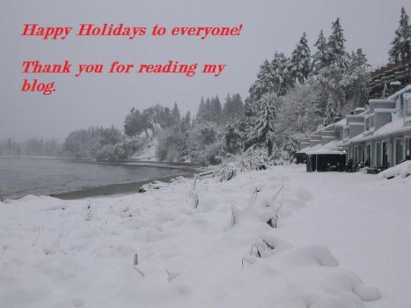 Snow scene - happy holidays
