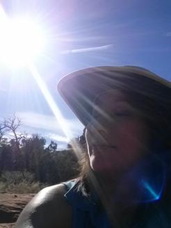 Sunrays on face