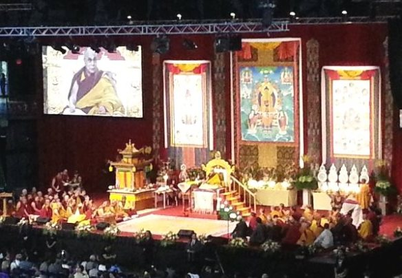 Dalai Lama stage