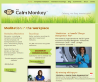 The Calm Monkey new wesbsite