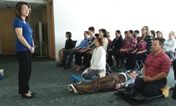 Wendy Quan teaching workplace meditation