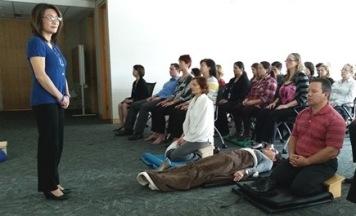 Wendy Quan teaching workplace meditation
