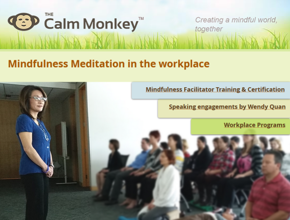 The Calm Monkey website
