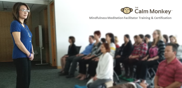 Wendy Quan leading corporate meditation